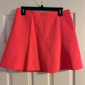 J. Crew bright pink crepe a-line mini skirt 8
